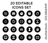 countdown icons. set of 20... | Shutterstock .eps vector #1011866449
