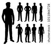 vector silhouettes of men... | Shutterstock .eps vector #1011866728