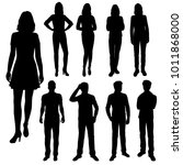 vector silhouettes of men and... | Shutterstock .eps vector #1011868000