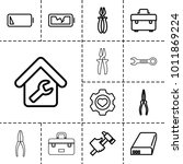 maintenance icons. set of 13...   Shutterstock .eps vector #1011869224