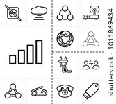 connect icons. set of 13... | Shutterstock .eps vector #1011869434