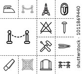 iron icons. set of 13 editable... | Shutterstock .eps vector #1011869440