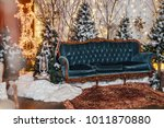 new year decoration in shabby...   Shutterstock . vector #1011870880