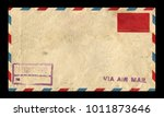 Old Postage Envelope On A Blac...
