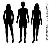 vector silhouettes of man and... | Shutterstock .eps vector #1011873940