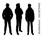 vector silhouettes of men ... | Shutterstock .eps vector #1011876400
