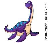 aquatic dinosaur icon. cartoon...   Shutterstock .eps vector #1011877714