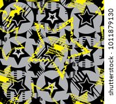 abstract seamless stars pattern ... | Shutterstock .eps vector #1011879130