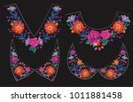 embroidery flower collars v... | Shutterstock .eps vector #1011881458
