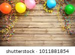 colorful carnival or party... | Shutterstock . vector #1011881854