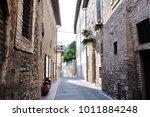 medieval street in the italian...   Shutterstock . vector #1011884248