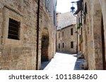 medieval street in the italian...   Shutterstock . vector #1011884260