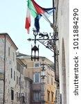 medieval street in the italian...   Shutterstock . vector #1011884290