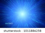 shiny radial burst with linear... | Shutterstock .eps vector #1011886258