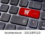online shopping or internet...   Shutterstock . vector #101189110