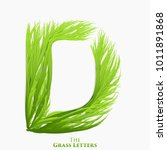 vector letter d of juicy grass... | Shutterstock .eps vector #1011891868