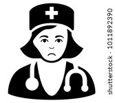 sad physician lady vector... | Shutterstock .eps vector #1011892390