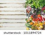helathy raw vegan food cooking... | Shutterstock . vector #1011894724