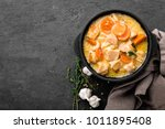meat stew  chicken fillet in... | Shutterstock . vector #1011895408