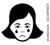 pitiful crying woman face... | Shutterstock .eps vector #1011895819