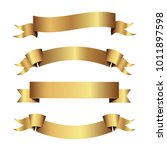set of golden ribbons vector. | Shutterstock .eps vector #1011897598