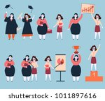 steps to success of two woman... | Shutterstock .eps vector #1011897616