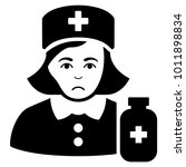 dolor apothecary lady vector... | Shutterstock .eps vector #1011898834