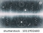 synthetic ecosystem   future...   Shutterstock . vector #1011902683