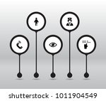 set of 5 disabled icons set.... | Shutterstock .eps vector #1011904549