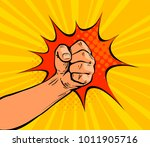 fist punching  crushing blow or ... | Shutterstock .eps vector #1011905716