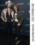 Small photo of New York, NY - January 27, 2018: Mark Wystrach and Cameron Duddy attend John Varvatos SS18 ad campaign launch party at The Angel Orensanz Foundation