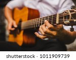 closeup hand musician playing... | Shutterstock . vector #1011909739