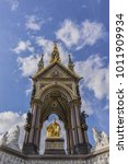 Small photo of Prince Albert Memorial (1876) - Iconic, Gothic Memorial to Prince Albert from Queen Victoria. London, England, UK.