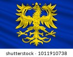 flag of germersheim is a town... | Shutterstock . vector #1011910738