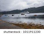 ullapool harbour in scottish... | Shutterstock . vector #1011911230