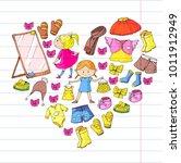 children clothing kindergarten... | Shutterstock .eps vector #1011912949
