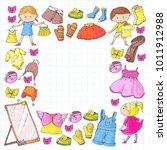 children clothing kindergarten... | Shutterstock .eps vector #1011912988