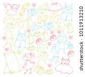 children clothing kindergarten... | Shutterstock .eps vector #1011913210