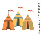cartoon medieval tents on white ...   Shutterstock .eps vector #1011913990