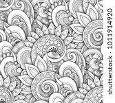 monochrome seamless pattern... | Shutterstock .eps vector #1011914920