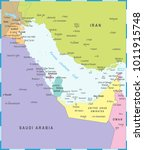 persian gulf map   detailed... | Shutterstock .eps vector #1011915748
