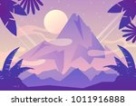 peak. vector mountain landscape | Shutterstock .eps vector #1011916888