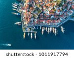 aerial view of boats  yachts ... | Shutterstock . vector #1011917794