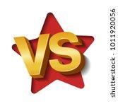 vs golden 3d letters on white...   Shutterstock .eps vector #1011920056