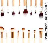 professional makeup tools.... | Shutterstock . vector #1011921880