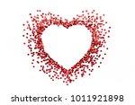red heart symbol on white... | Shutterstock . vector #1011921898