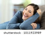 portrait of a happy woman... | Shutterstock . vector #1011923989