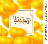 balloon hearts. vector... | Shutterstock .eps vector #1011927460