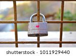 Padlock With One Heart Shape...