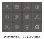elegant logo set  hotel logo ... | Shutterstock .eps vector #1011929866